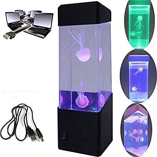Mini Jellyfish Lamp - LED Fantasy Jellyfish Lampe Changement de couleur Mood Lamp/USB charge - Home Decoration Magic Lamp for Gift