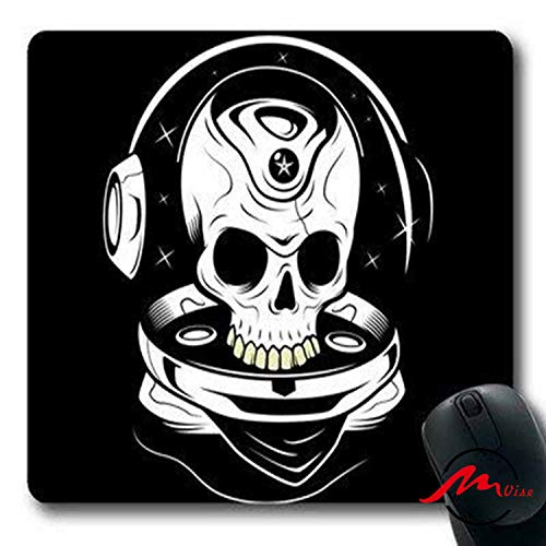 ZMvise Skull With Helmet Modisches Cartoon-Mauspad Matte Fashion Muster Custom Rechteck Gaming Mauspad