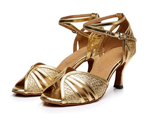 TDA ,  Damen Tanzschuhe Gold
