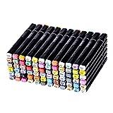 Finecolour Graphic Soft Pinsel und Breite Tipps Marker Pen Animation Design 72 Farben