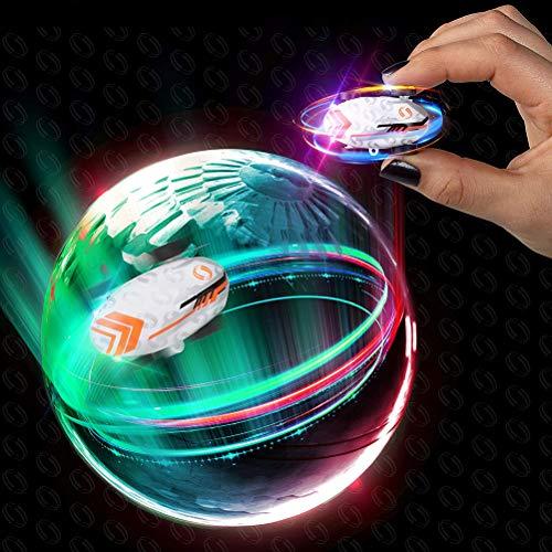 Daxoon Mini Auto Spielzeug Micro Pocket Racer Wiederaufladbare Stunt Flip mit LED-Licht für Kind Geschenke