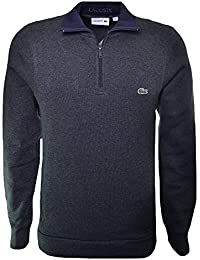 Lacoste Men's Dark Grey Half Zip Sweatshirt