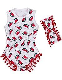 EOZY Vêtement De Naissance Bébé Fille Barboteuse Imprimé Fruit
