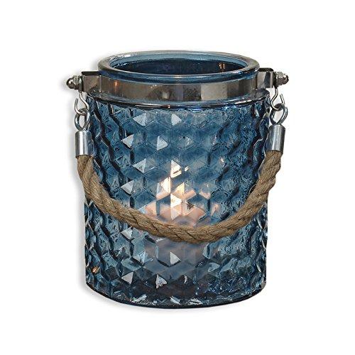 Preisvergleich Produktbild ROLLER Windlicht VALO - blau - Glas - Ø 11 cm