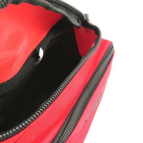 Correa de la bolsa / banana 'enrico benetti rojo - 21x12x8 cm.