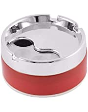 HONEST Plastic Base Stainless Steel Tabletop Decor Closed Printing Unbreakable Ashtray