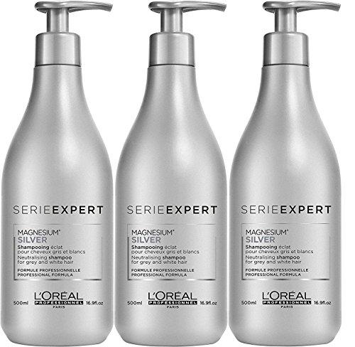 Loreal 3 er Pack Loreal Serie Expert Silver Shampoo 500ML -
