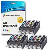 12 Druckerpatronen für Canon Pixma iP3300, iP3500, iX3300, iX3500, iX4000, iX5000, MP510, MP520, MP520X, MX700   kompatibel z