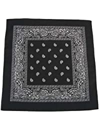 Bandana masque tour de cou - Paisley USA noir - Airsoft - Paintball - Hip hop - Moto - Country - Outdoor