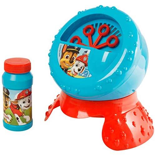 Paw Patrol Macchina Spara Sofia Bolle di Sapone Bubble Blower con Liquido Perfetto per Feste Compleanno