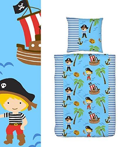 aminata-kids-bettwasche-kinder-biber-135x200-cm-jungen-pirat-hellblau-blau-feinbiber-edelflanell-pir