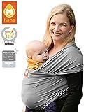 Hana standard BAMBOO Baby Wrap: Light, lush and breathable baby slings   BAMBOO-Cotton-Elastane   FREE SHIPPING (Slate)