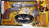 Wild West 11 Big Air-clicker Chromed Trigger with Lone Ranger Mask and Sheriff Silver Badge by Toys4less