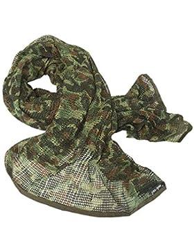 Mil-Tec - Pañuelo para cuello o cabeza (bufanda militar) Flecktarn Talla:190 x 90 cm