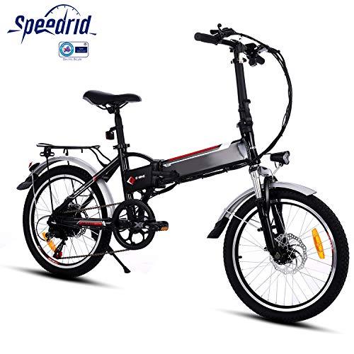 Speedrid Bici elettrica Pieghevole per Bici elettrica, Pneumatici 26/20 Ebike Bici elettrica per Bici con Motore brushless da 250 W e Batteria al Litio 36 V 8 Ah Shimano 21/7 velocità