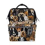 Rucksack mit Hundemotiv und großer Kapazität für Mumien-Tasche, Laptop, Handtasche, Freizeit-Reisen, für Damen, Herren, Erwachsene, Teenager, Kinder