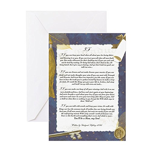 CafePress–Graduation Schlüssel zu der Zukunft, wenn er von Rudyard Kipling–Grußkarten (10), Note Karte mit Innen blanko,, Geburtstagskarte glänzend