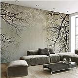HUANG YA HUI Wallpaper Fototapeten Tapete Des Kreativen Abstrakten Hauptdekor-Nordischen Art-Baumast-Himmel-Desktop-Wandbild-Tapete 3D Des Foto-3D