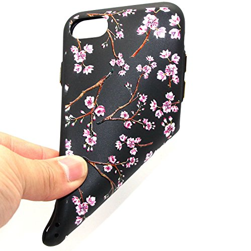 iPhone 7Fall, iPhone 7, 3D Bling Glitzer Soft Case für iPhone 711,9cm, toyym Ultra Slim Transparent Kristall Schöne Muster Schutzhülle Bumper TPU Silikon Back Schutzhülle für Iphone 7 Blume#6