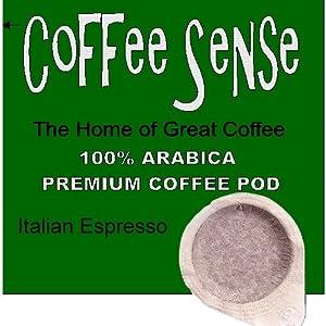 ESE Italian Espresso Coffee Pods 44mm by Coffee Sense