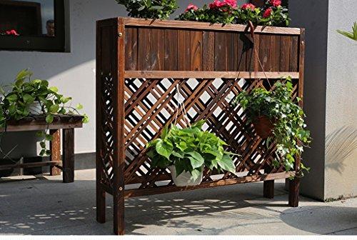 JCRNJSB® Boîtes à fleurs en plein air Anti-corrosion en bois massif Flower Rack Planters Grille Partition L'hôtel est grande clôture clôture Fleur pot cadre Pliable, support de fleurs ( taille : M )