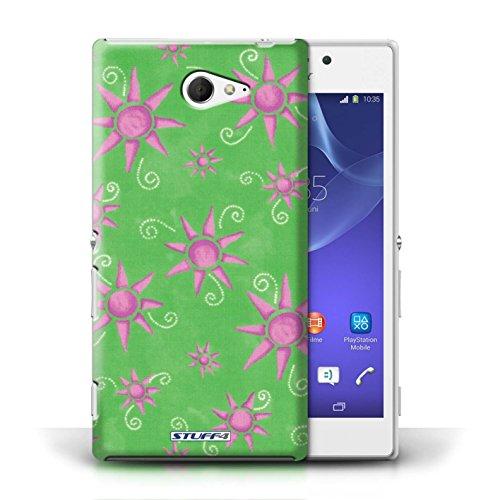 iCHOOSE Print Motif Coque de protection Case / Plastique manchon de telephone Coque pour iPhone 6+/Plus 5.5 / Collection Motif Soleil / Jaune/Blanc Vert/Rose