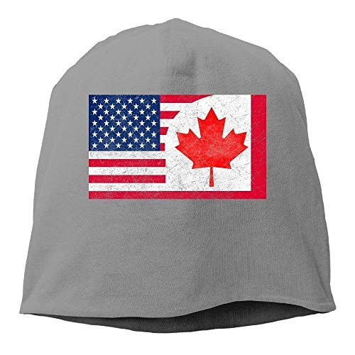 Jxrodekz Kanada US-Freundschaftsflaggenkombination Vereinigte Staaten Amerika Kanadischer Unisex Lässig