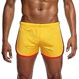 JiaMeng Moda Hombre de algodón Pantalones Cortos Nylon Mesh Sports Pantalones Cortos de Atletismo en Pista y Campo Pantalones Cortos Hombre Pantalones Cortos Jogging