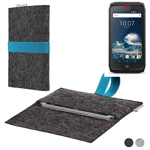 flat.design Handy Hülle Aveiro für Crosscall Action-X3 passgenaue Filz Tasche Case Sleeve Made in Germany
