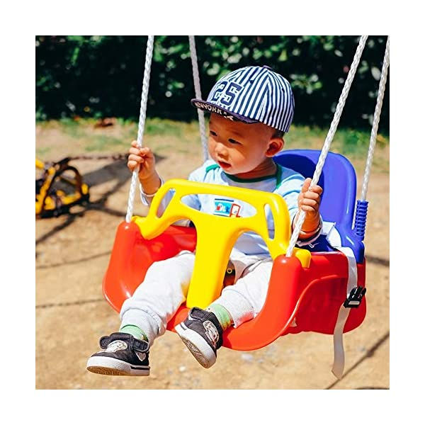 JTYX 3 in 1 Children Swing Chair Indoor Outdoor Home Hammocks Baby Seat Child Toy Large Space Hammock Chairs JTYX Strong carrying capacity: sturdy and durable, bearing capacity up to 120kg, ensuring stable swing.. Rugged and durable: high temperature resistance, fading resistance, ensuring safe use.. Versatility: Through these swings, you can inspire your child's ability to balance and promote balance while bringing happiness and total relaxation.. 3