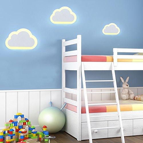 Modern Kreativ 1X 12 Watt LED Wandleuchte Acryl Wolke Warmweiß Für Kinderzimmer Aisle Treppe Schlafzimmer Wohnzimmer