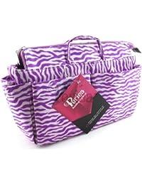 Periea Organiseur de sac à main (GRAND modèle) 13 Compartiments + mousqueton GRATUIT Violet zébré - Harriet