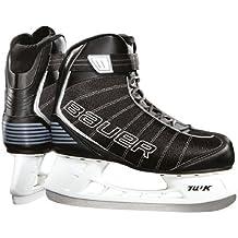Bauer Flow - Patines de hockey sobre hielo para niños negro negro Talla:5