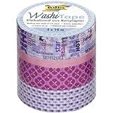 Folia 26406 Washi Tape Girls Dream - Cinta adhesiva decorativa (juego de 4 unidades)