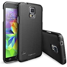 Galaxy S5 Funda - Ringke SLIM Funda [Protección Todo Alrededor][DOT-BLACK] Funda Hard Top y Bottom Cobertura Completa Prima Dual Coated para Samsung Galaxy S5- Eco Paquete