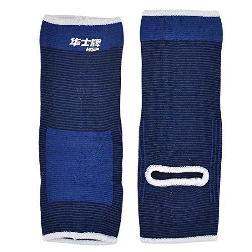 DealMux Latex Übung Fußball Elastic Pullover Knöchel Unterstützung Protector Paar Blau - Pullover Knöchel-unterstützung