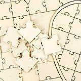 Anladia 60tlg Doppel-Herz Gästebuch Holz Puzzle Hochzeitsgästebuch Hochzeit Taufe Geschenkidee Vergleich