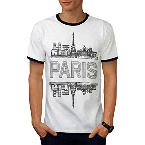 Paris Stadt Entwurf Frankreich Symbol Herren M Ringer T-shirt | (Kostüm Männlich Frankreich)
