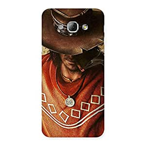 Cute Cowboy Multicolor Back Case Cover for Galaxy A8