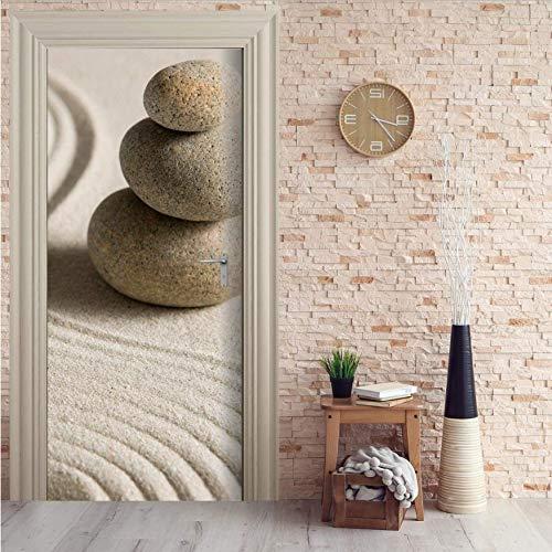 3D Kundenspezifische Steine   Sand Tür Wandbild Tapete Wandbild Wanddekoration Aufkleber Deco Wandbild Foto Selbstklebende Türverpackung 77X200 Cm Türaufkleber