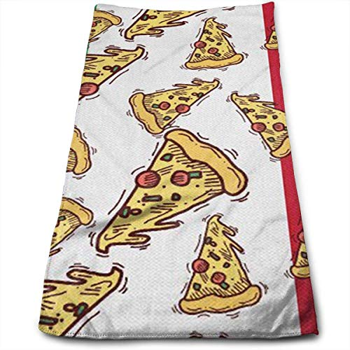 DAICHAI Handtuch Pizza Slice Italy Flag Italian Food.jpg Bath Towels for Bathroom-Hotel-Spa-Kitchen-Set Circlet Egyptian Polyester Highly Absorbent Hotel Quality Towels