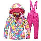 Ocamo Traje de esquí Pantalones Impermeables + Chaqueta Deportes de Invierno Engrosamiento de la Ropa