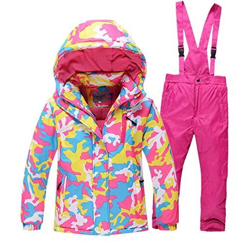 Jungen/Mädchen Skianzug Wasserdichte Hosen + Jacke Set Winter Sport Verdickt Kleidung | 06954256341254
