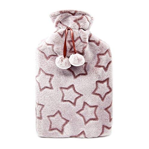 Cassandra Wärmflasche in superweicher Fleece abnehmbarer Bezug. Mond und Stern Designs. britischen Norm bs1970/2012. 5Jahre Garantie. Farbe erhalten variiert. 1,8Liter X