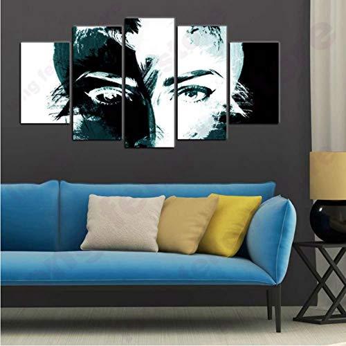 hwarzes Gesicht abstraktes Porträt-Wand-Kunst-Karikatur-Plakat Giclee druckte großes Bild-Malerei für Flur-Raum-Wand-Dekor ()