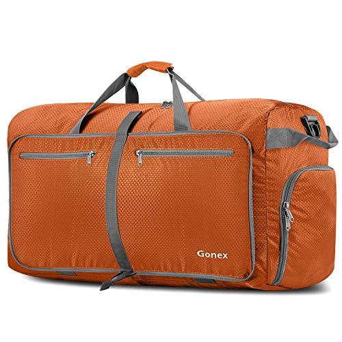 are Reise-Gepäck 100L, Farbe: Orange, Duffel Taschen Uebernachtung Taschen/Sporttasche für Reisen Sport Gym Urlaub ()