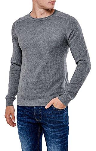 Herren Threadbare Rundhalsausschnitt Jumper Texturiert Raglan Sweatshirt Oben Pullover Weich BRUCE Tornado Mergel