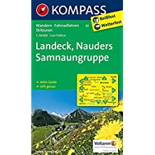 Landeck - Nauders - Samnaungruppe: Wanderkarte mit Aktiv Guide, alpinen Skirouten und Radrouten. GPS-genau. 1:50000 (KOMPASS-Wanderkarten, Band 42)