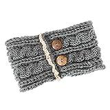 Yazidan Frau Winter Mode Knopf Gestrickt Stirnband Häkeln Headwrap Crochet Kopfband Haarband Böhmen Handgemachten warmen Stirnband Stricken