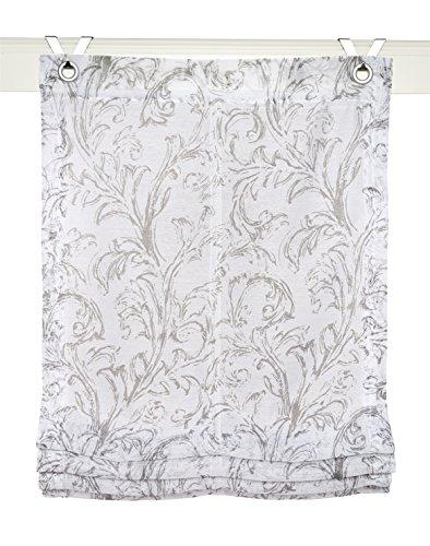 Estor plegable Shania gris con ojales y ganchos, 45 * 130 cm